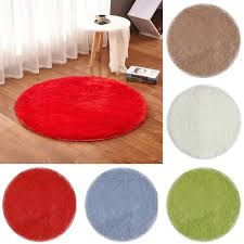 tapis rond chambre bleu 40 50cm tapis rond tapis salon chambre salle de bain enfant
