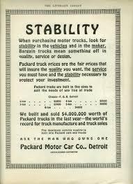 100 Packard Trucks Stability When Purchasing Motor Trucks 2 To 6ton Truck Ad 1913