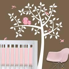 Owl Tree Girl Baby Owl Nursery Theme