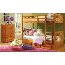 one honey twin twin bunk bed one 6 drawer double dresser and one