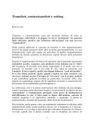 transfert de si e transert controtransfert e setting pdf