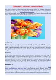 service bulletin for planting tulips daffodils netherland bulb