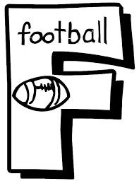 Letter F Football Free Alphabet Coloring Pages