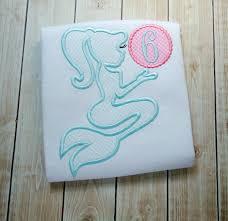 Mermaid Silhouette Applique Design Mermaid Monogram Applique Design