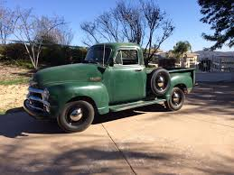 Some New Wheels And Tires On The 1954 Chevy Pick Up Five Window ...