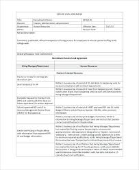 Simple Service Level Agreement Template Distribution Free Building Contract Basic Master Oil Healt