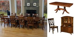 Amish Kitchen Tables Double Pedestal Dining Set Furniture Lancaster Pa