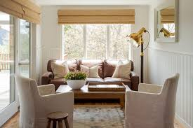 leather sofa fabric chairs living room contemporary with wall
