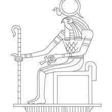RE HORAKHTY Egyptian God Free Online EGYPTIAN GOD RA Coloring Page
