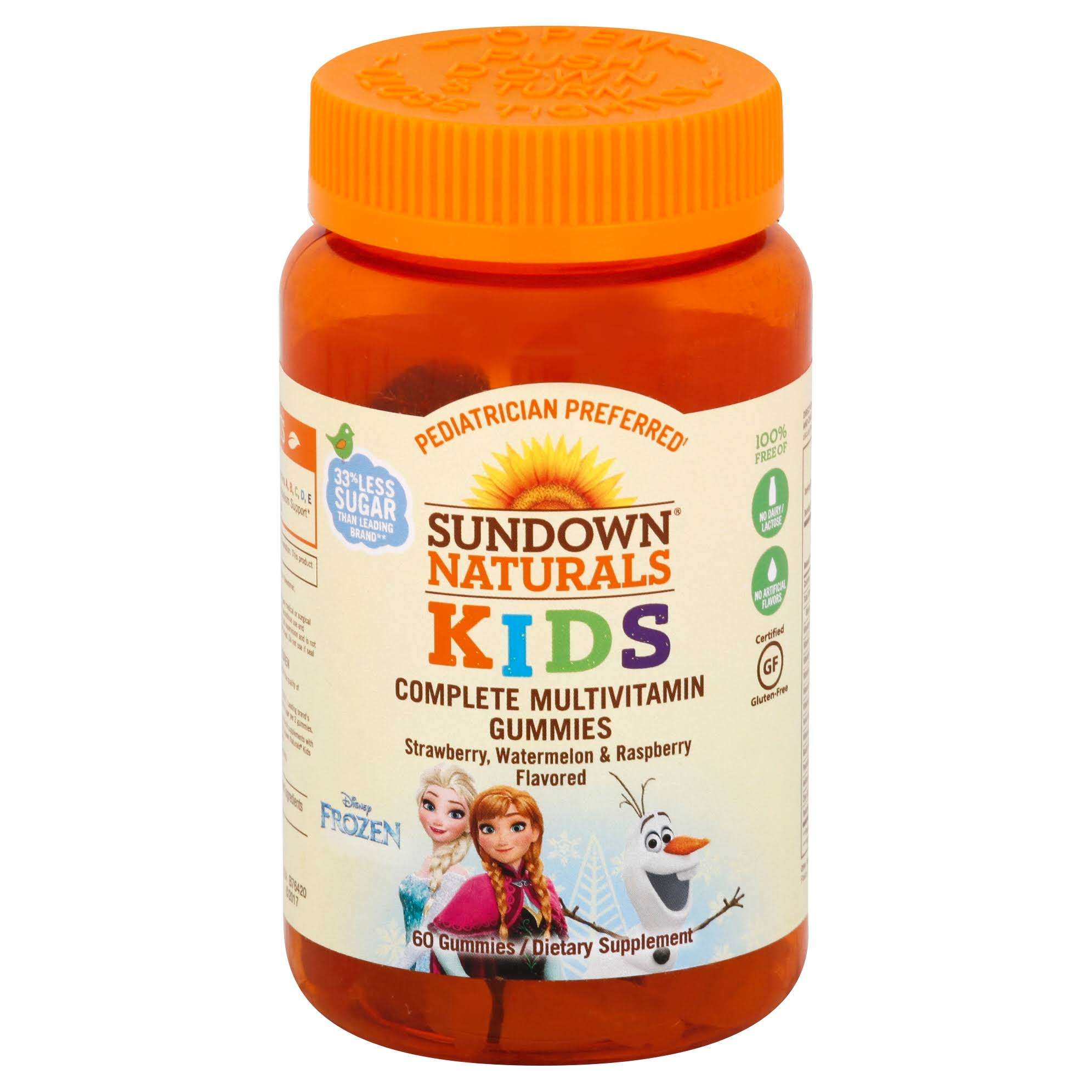 Sundown Naturals Disney Frozen Kids Complete Multivitamin - 60ct