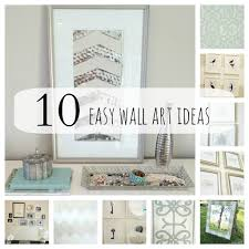 Simple Wall Paintings For Bedroom Diy Home Art 10 Easy Girly Frames