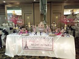 Paris Night Theme Quinceanera Party Ideas