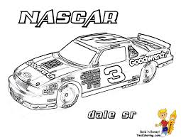 Print Picture Race Car Of Dale Sr At YesColoring