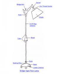 Lamp Shade Adapter Ring by Bridge Floor Lamp Part Index