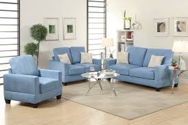 Poundex 3pc Sectional Sofa Set by Rebel Blue Wood Sofa Loveseat And Chair Set Steal A Sofa
