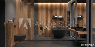 bad badezimmer modern freistehende badewanne stock