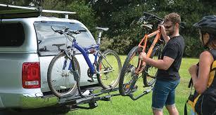 100 Bike Rack For Truck Hitch RBC048 Dual Trekker Platform Carrier Rhino