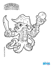 Skylanders SWAP FORCE Coloring Pages Blast Zone Page Zoo Lou Slobber Tooth Wash Buckler