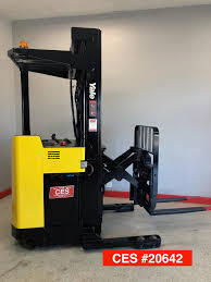 """CES #20642 Yale Reach NR035 Forklift 242"""" - Coronado Equipment Sales Hss Reach Trucks For Every Occasion And Application Cat Standon Truck Nrs9ca United Equipment Reach Truck 2030 Ton Pt Kharisma Esa Unggul Pantograph Double Deep Nr23 Forklift Hire Linde Series 1120 R14r20 Electric 15t 18t 5series Doosan Forklifts Raymond Stand Up Doubledeep Narrow Aisles Rd 5700 Reach Truck Electric Handling Ritm Industryritm Industry Trucks China Manup Bt Vce 150a Year 2012 Serial Number"""