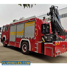 100 Medium Duty Trucks For Sale Hot Item MultiFunctional Fire Fighting Rescue Truck Equipped Mounted Crane Winch And Search Light For