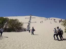 accès par l escalier ou par le picture of dune du pilat