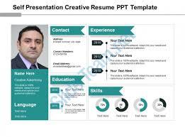 Self Presentation Creative Resume Ppt Template Slide01 Slide02