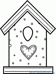 Birdhouse Coloring Pages 3