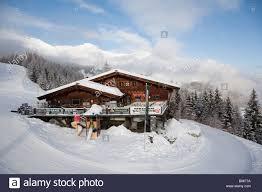rauris austria europe heimalm wooden chalet restaurant beside