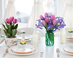 Easter Brunch Floral Table Decorations
