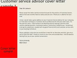 Cover Letter Design Customer Service Advisor Cover Letter Sample