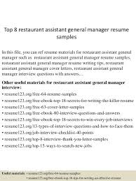 Waitress Resume Objective Examples 24 Awesome For Server Sample From 0d