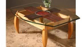 round wood and glass coffee table foter
