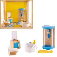 beleduc puppenmöbel puppenhausmöbel badezimmer puppen zubehör e 3451 hape