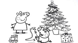 Peppa Pig Christmas Coloring Pages For Kids Video