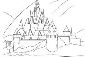 Frozen Elsa Col Ice Castle Coloring Page