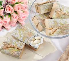 Rustic Travel Themed Wedding Favour Boxes