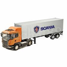 Welly Scania R470 1:32 Orange Super Haulier Tractor Container ...