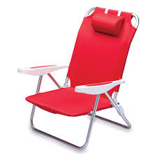 Picnic Time Reclining Camp Chair by Time Monaco Beach Chair