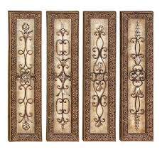 Tuscan Wrought Iron Wall Art Pleasing Designs Metal And Wood