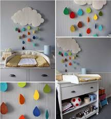 Diy Baby Room Decor Rainy Cloud Raindrop Felt Colourful