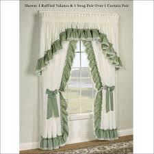 Kohls Kitchen Window Curtains by Living Room Swag Curtains Kohls Sheer Ruffled Priscilla Curtains