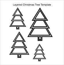 Awesome Layered Christmas Tree Template Pdf Download With Cutout
