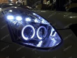 03 05 infiniti g35 2dr coupe chrome halo projector led headlights