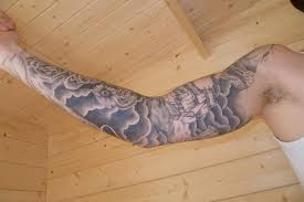 Full Sleeve Cloud And Ship Tattoo Designs For Men