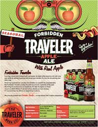 Travelers Pumpkin Shandy Where To Buy by The Traveler Beer Company Launches Forbidden Traveler Apple Ale
