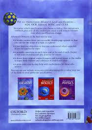 Oxford University Press Uk Exam Copy by Advanced Chemistry Advanced Science Amazon Co Uk Michael
