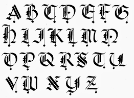 Best Calligraphy Design A To Z Of Old English Pics