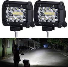 100 Lights For Trucks LED PodsNAO LED Work Light Bar Bulb Spot Flood For 4inch Led Fog Light Bar For Offroad Town Truck Car ATV Boat SUV 2PCS 140W Triple Row