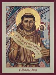 st francis of assisi icon by nancy oliphant