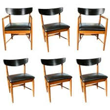 custom upholstery barrel back mid century dining chairs by merton